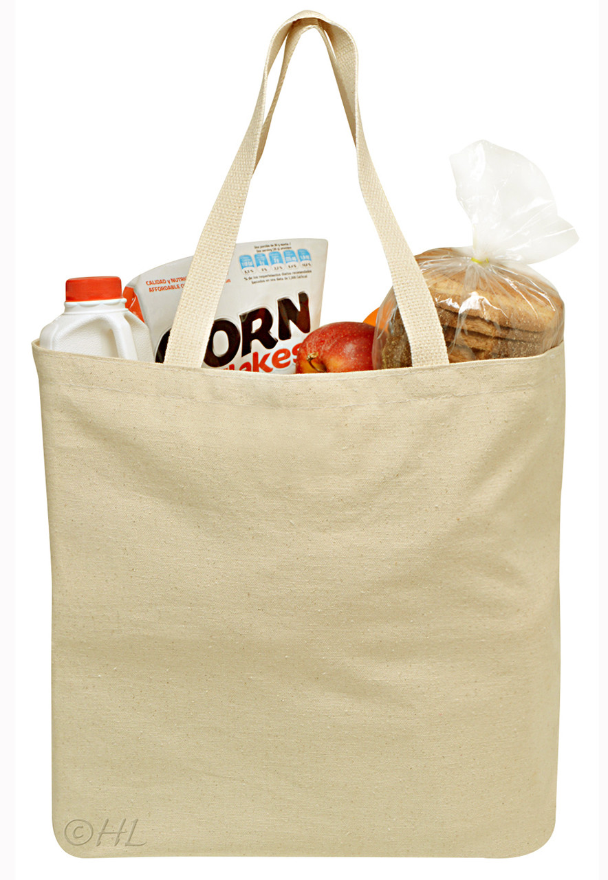reusable grocery canvas bag