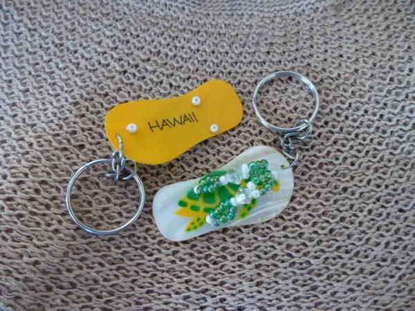 Yellow Hawaiian Honu Slippah Keychain - 10 Order