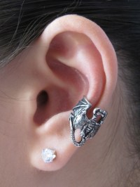 Pewter Dragon Ear Cuff Jewelry