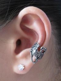 Pewter Dragon Ear Cuff Jewelry