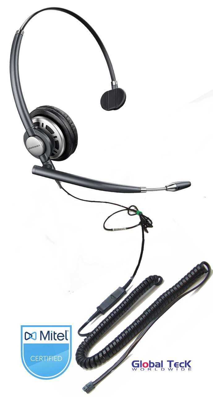 hight resolution of mitel compatible plantronics encore pro mono wideband headset hw291n hw710 direct connect for mitel ip phones supersets and consoles with headset jack