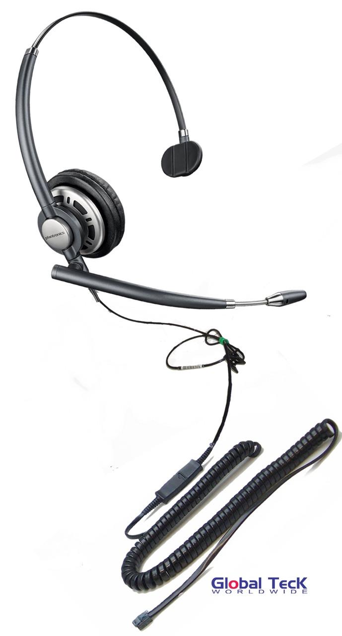 medium resolution of nec compatible plantronics encore pro direct connect mono wideband headset hw291n hw710