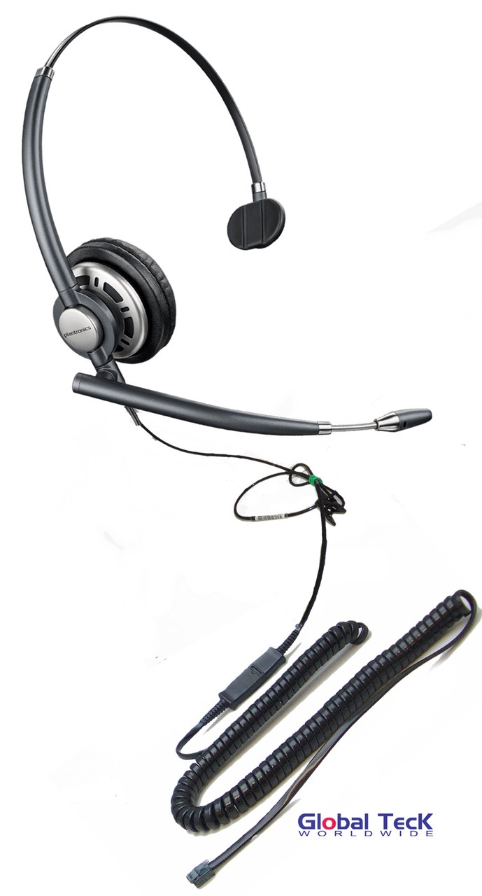 small resolution of nec compatible plantronics encore pro direct connect mono wideband headset hw291n hw710