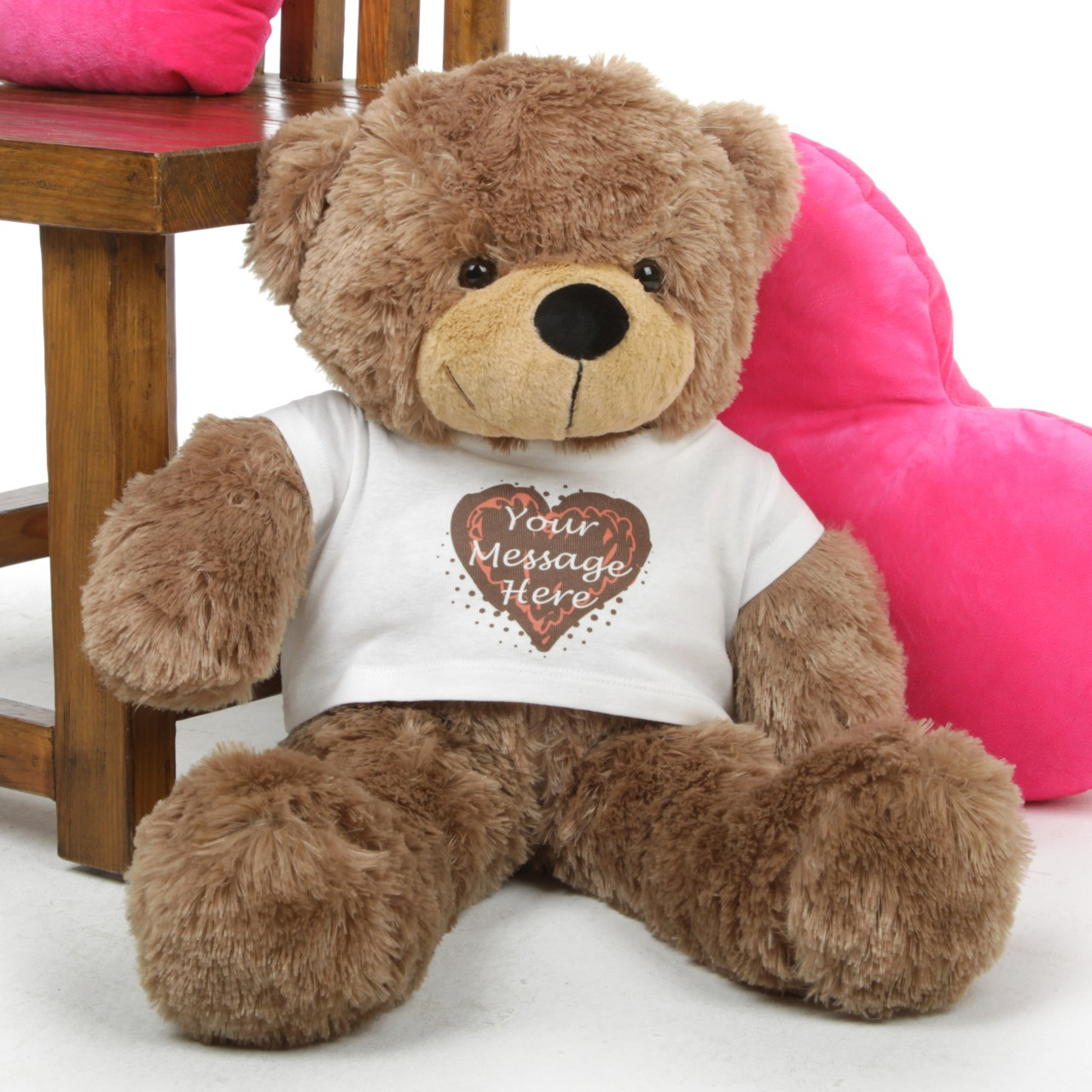 Mocha 30in Sunny Cuddles Personalized Teddy Bear With