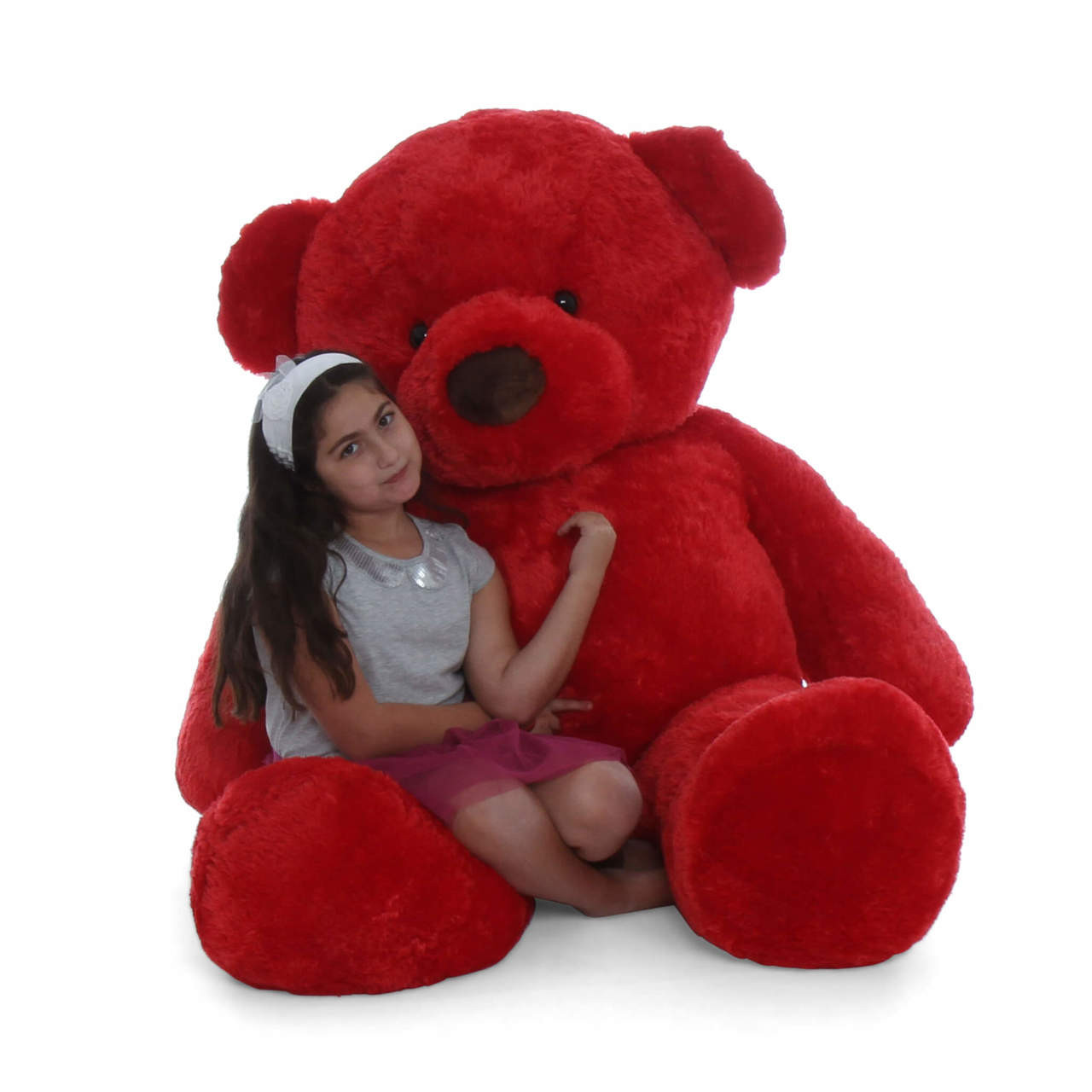 Life Size 72in Humongous Red Teddy Bear Riley Chubs By