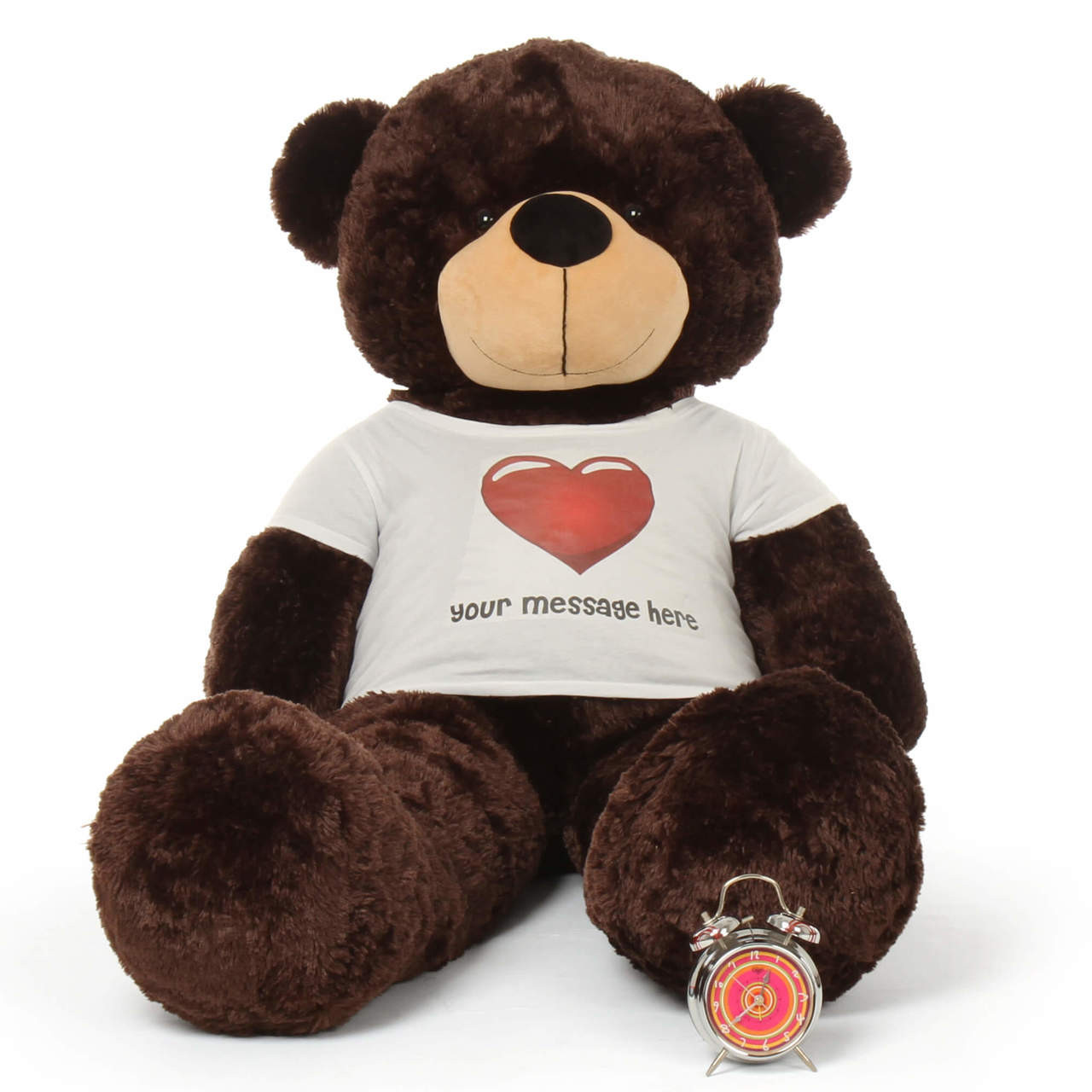 Big Valentines Day Personalized Giant Brown Teddy Bear