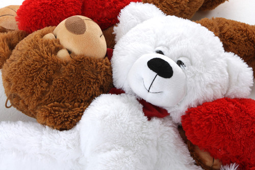 Cutest Of All Big White Teddy Bears With Heart Pillow Included Is 40 Inch Dazey Mittens Standing