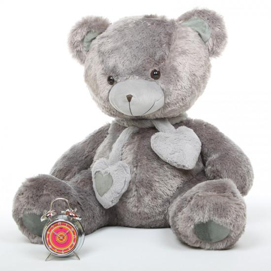 Angel Hugs 36 Silver Gray Stuffed Teddy Bear Giant