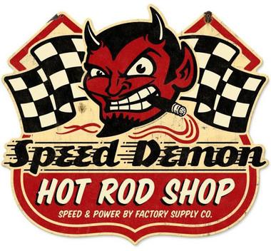 Peterbilt And Girls Wallpaper Speed Demon Hot Rod Shop Metal Sign 27 X 24 Inches
