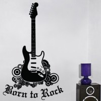 Born To Rock Wall Decal   DecalMyWall.com