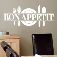 Bon Appetit Wall Decal   DecalMyWall.com