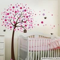Dots Tree & Birds Wall Decal