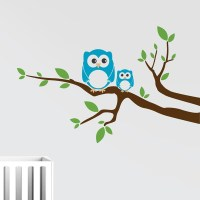 Branch with Owls Wall Decal | DecalMyWall.com