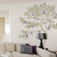 Oriental Blossom Tree Wall Decal | DecalMyWall.com