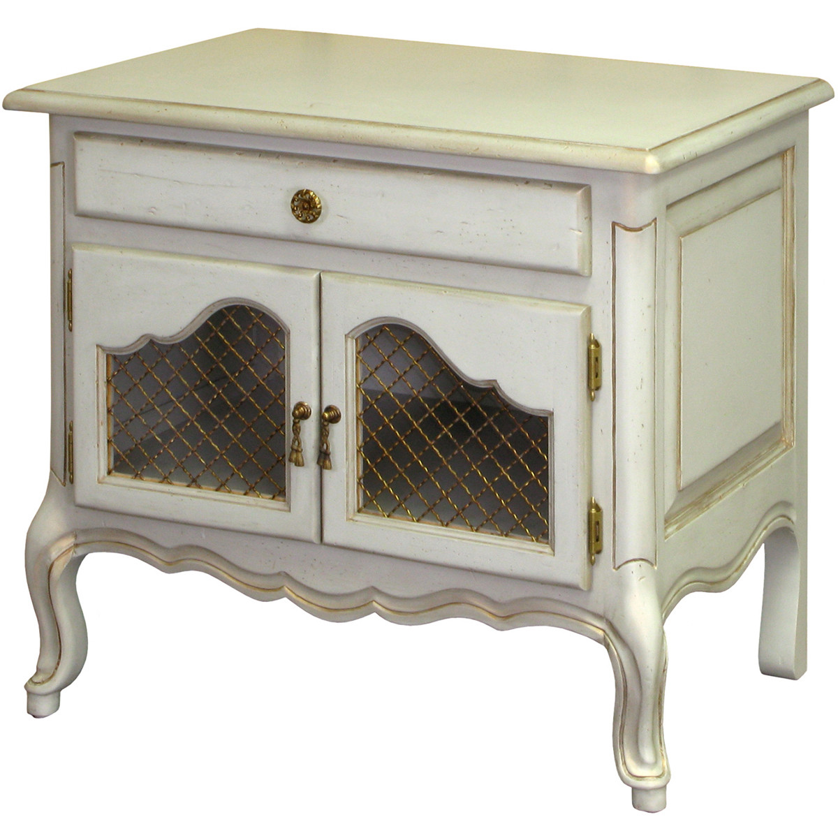 Country French Night Table In Versailles Blue