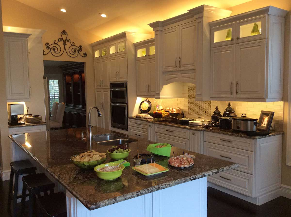 kitchen counter lighting country table and chairs residential led strip projects from flexfire leds above cabinet under