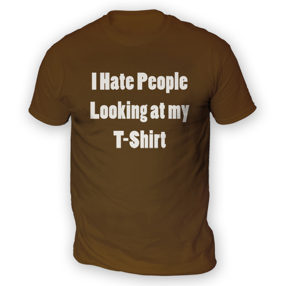 Hate People T-shirt Mens