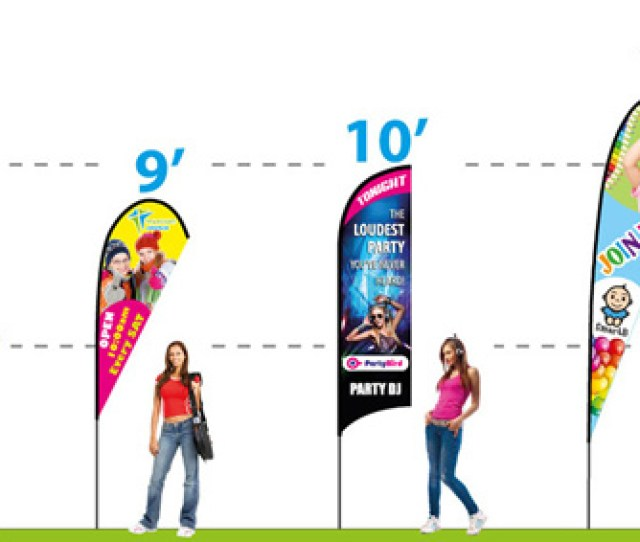 Custom Feather Flags Feather Banners Size Chart