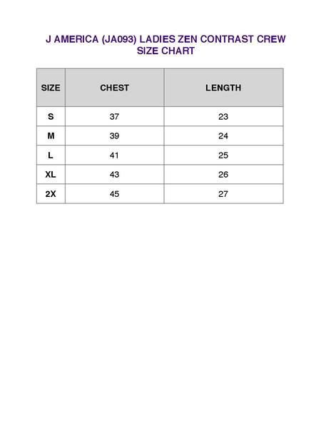 america zen contrast crew size chart also his doe high quality hoodie rh southernsistersdesigns