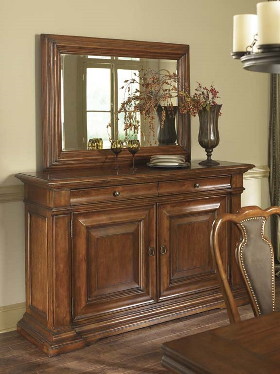 American Drew Furniture Discontinued : american, furniture, discontinued, American, Furniture,, European, Traditions, Collection,, Cherry, Mirror,, Landscape, Foyer, North, Carolina, Wholesale, Closeout, Discontinued, Furniture