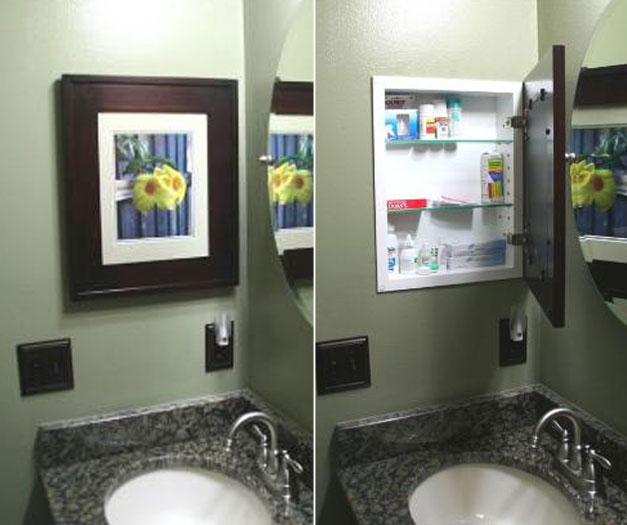 Recessed Medicine Cabinets with Picture Frame Doors