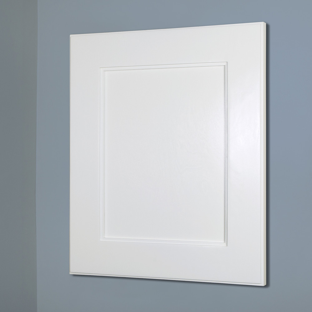 White Shaker Style Medicine Cabinet 13x16  Recessed In