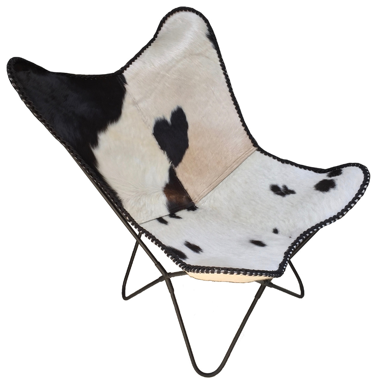 black and white cowhide chair kozi revolving butterfly lord in categories