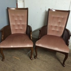 Queen Anne Side Chairs Cherry Chair Seat Cover Fabric Pair Of Arm Forgotten Furniture