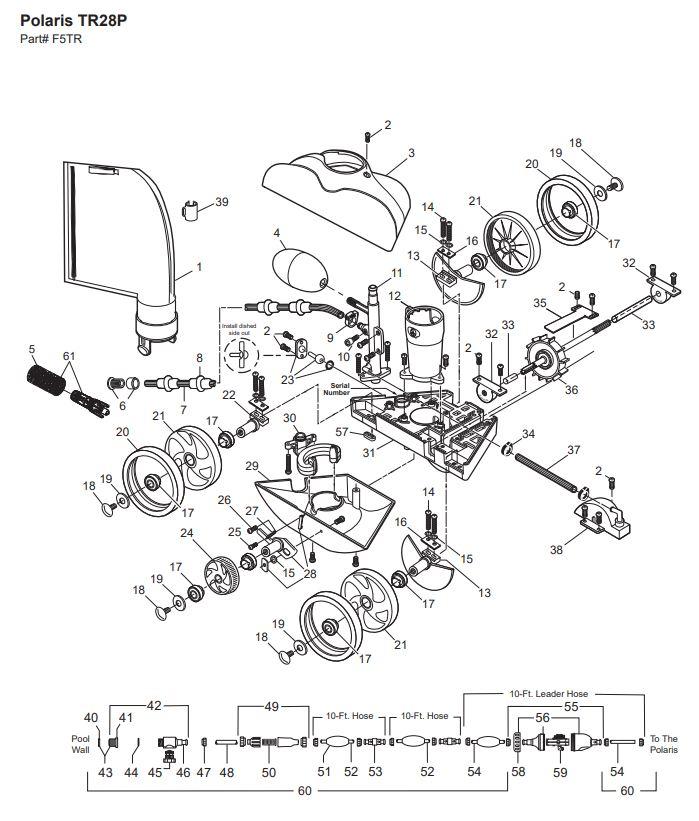 Polaris TR28P Pool Cleaner Parts