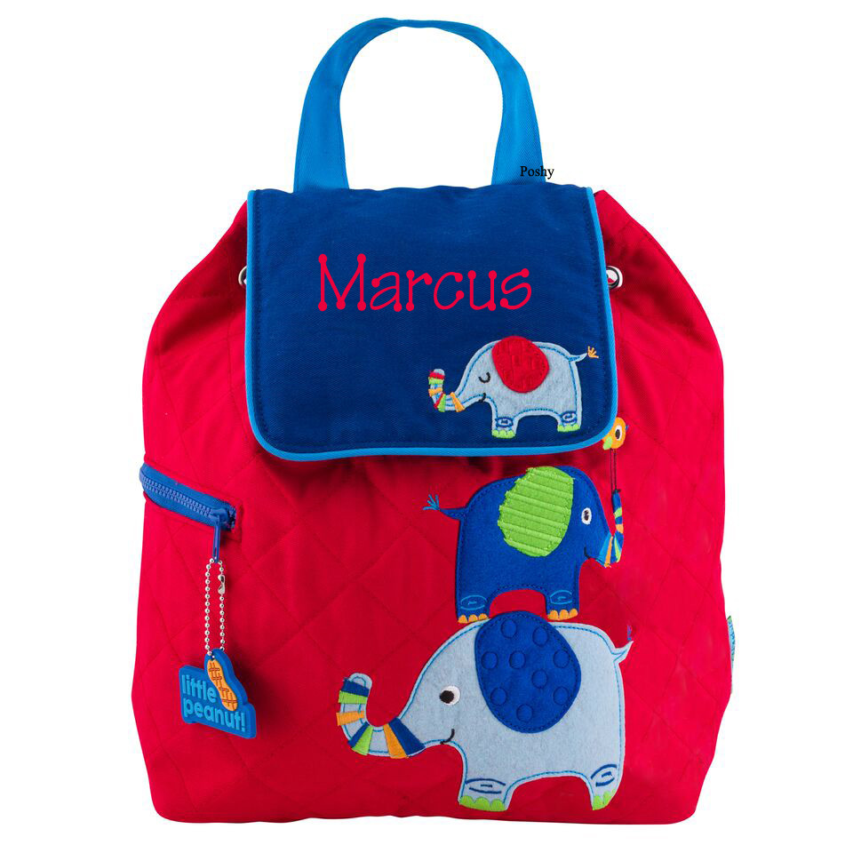 personalized kids quilted backpacks