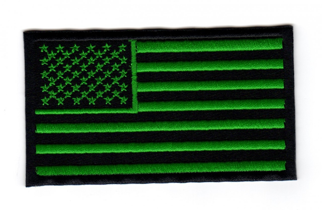 american flag black and