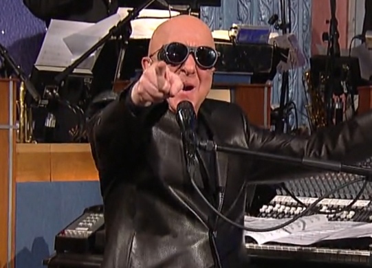 Paul Shaffer Wearing MATSUDA M1013 Sunglasses On Letterman