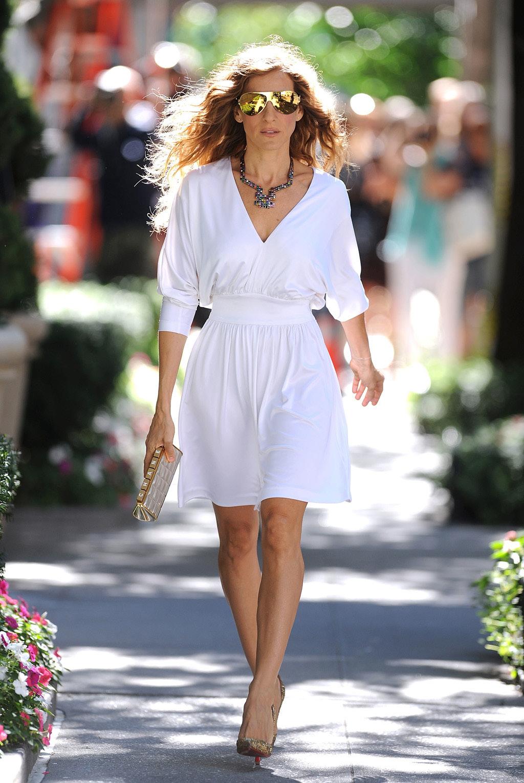 Sarah Jessica Parker Wearing MYKITA FRANZ Sunglasses