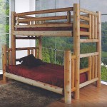 Log Bunk Beds Ontario Finished Northern Lakes Log Twin Over Double Bunk Bed