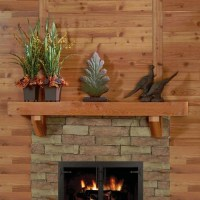 A truly rustic mantel shelf, built from Western Red Cedar