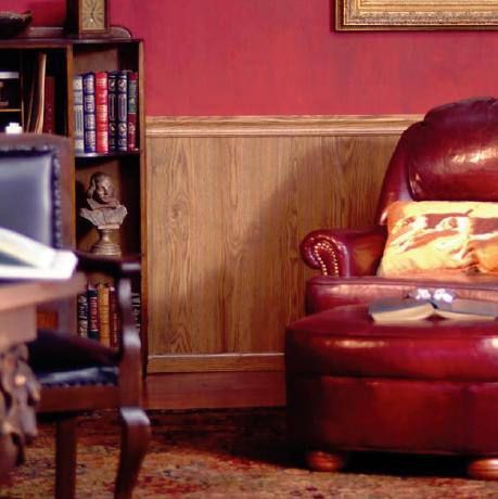 oak chair rail office recliner wood paneling highland wall library panels used as wainscoting below a