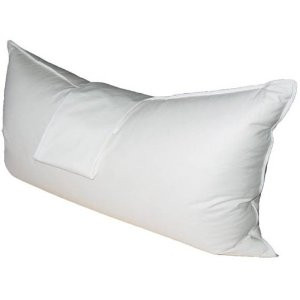 white goose down feather body pillow medium firm filled