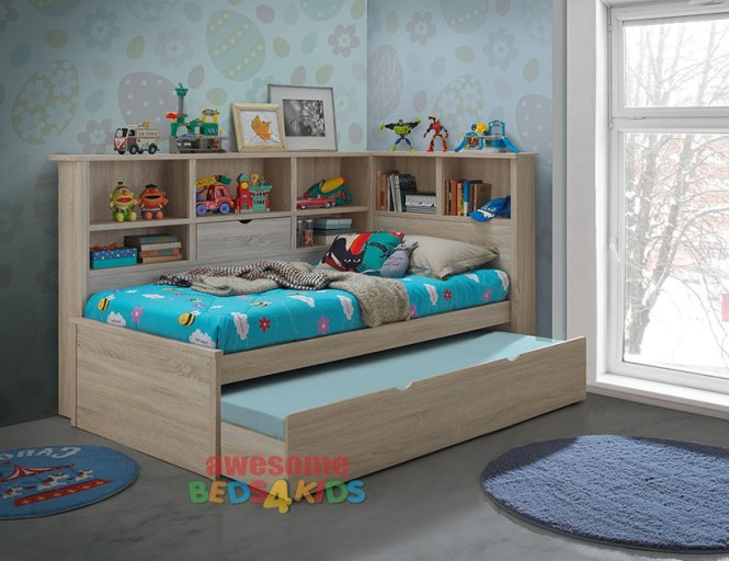 Balllini Single King Trundle Bed Is A Very Modern And Practical Bedroom Solution For