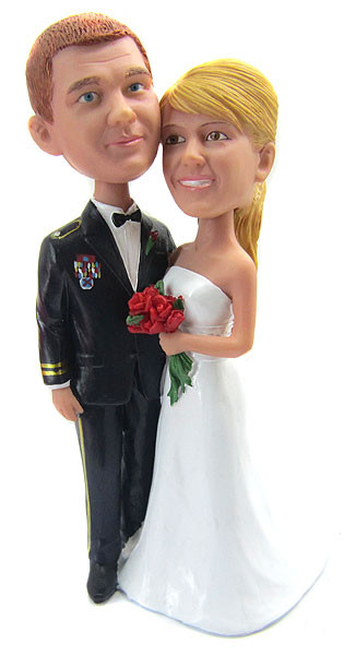 Army Officer Wedding Cake Toppers