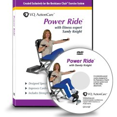 Chair Gym Dvd Set For Kid Desk Power Ride Resistance Exercise System