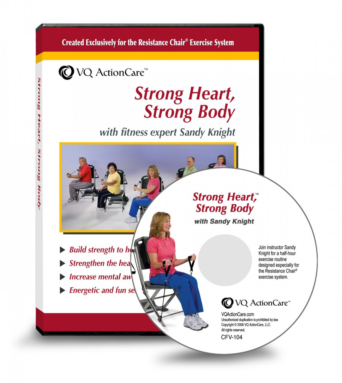 chair gym dvd set posture office strong heart body resistance exercise