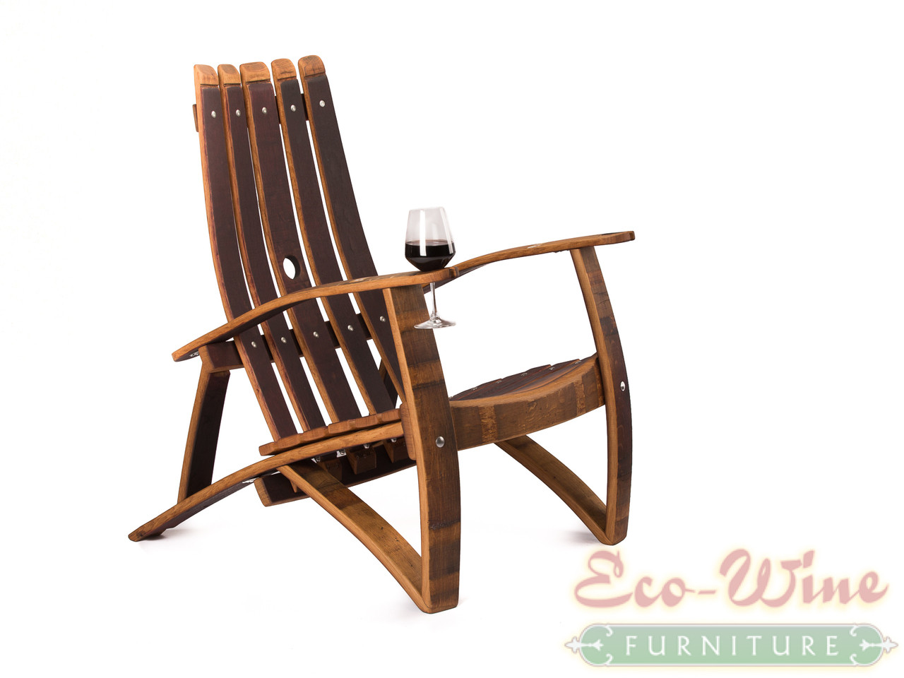 adirondack wine barrel chairs unique office chair mats furniture wide and solid this five stave back style is made entirely from thick