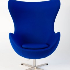 Blue Egg Chair Infant Chairs Sit Up Replica Arne Jacobsen