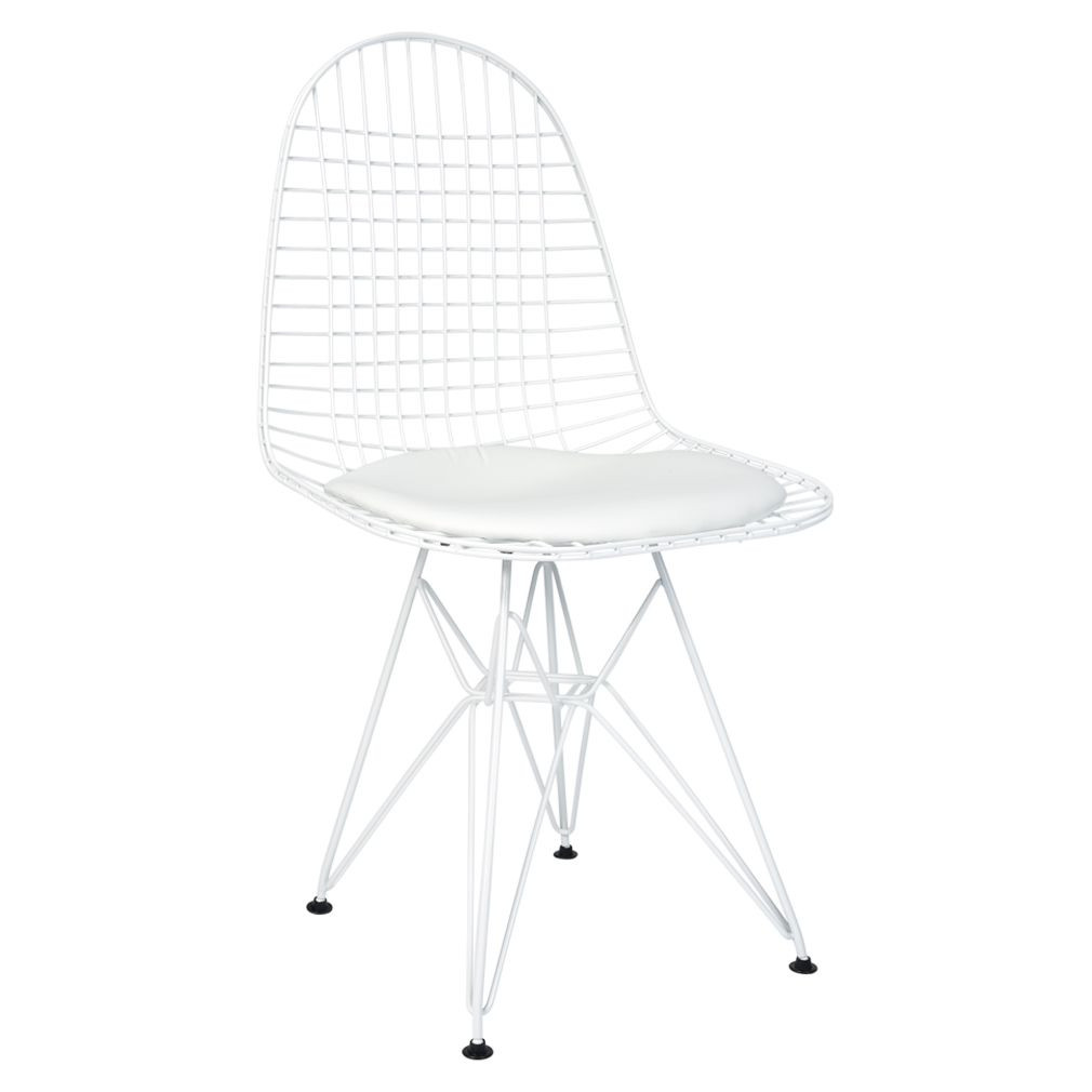 Eames Wire Chair Replica Ray Charles Eames Eiffel Wire Chair Powdercoated White Various Colour Seat Cushion Only