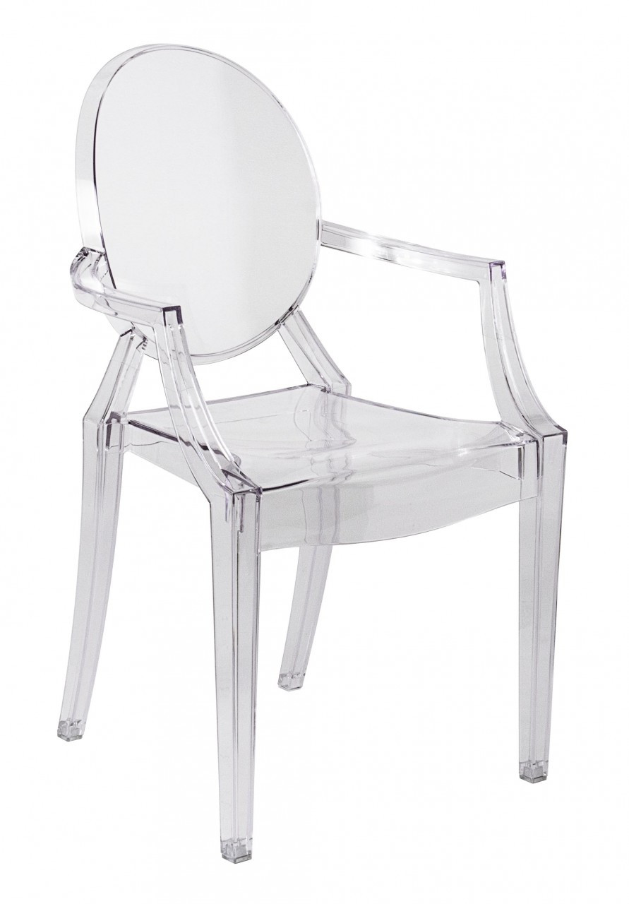Plastic Clear Chair Replica Louis Ghost Chair Transparent Clear