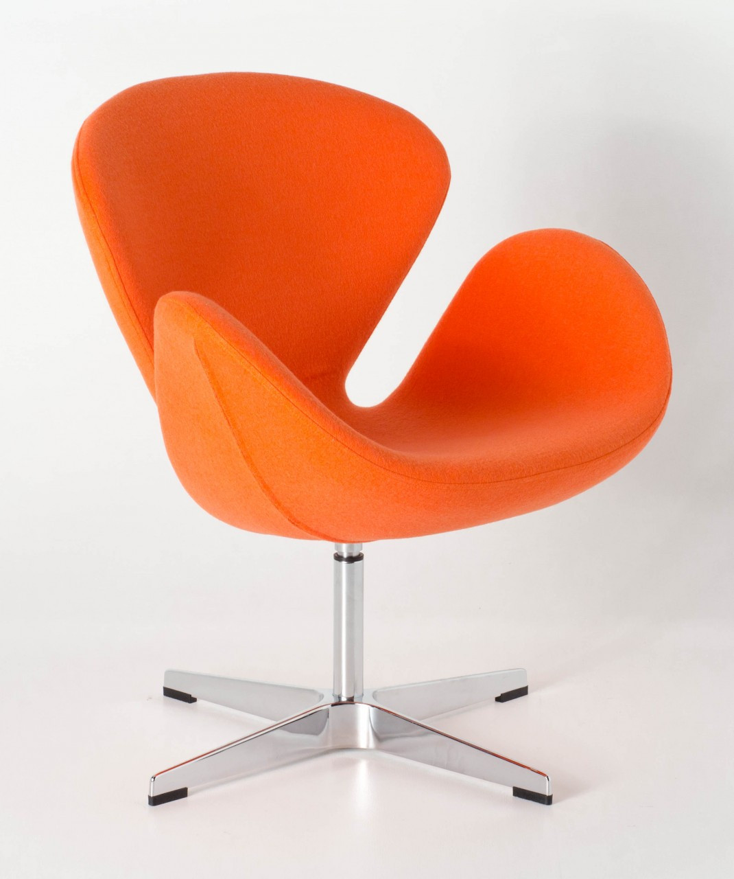 orange egg chair round christmas covers replica swan arne jacobsen