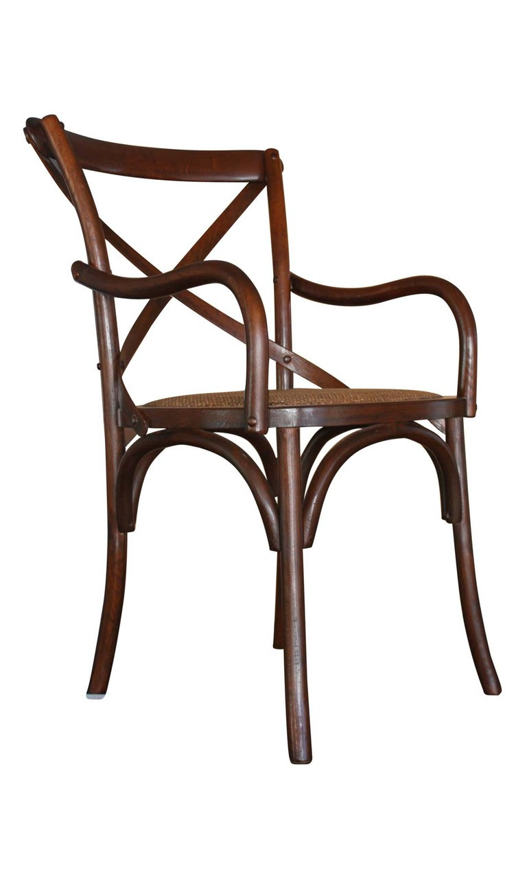 Carver Crossback Chair in Brown