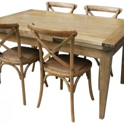 Oak Kitchen Table Contemporary Rugs Solid Dining 150cm With 4 Provincial Crossback Chairs In Natural