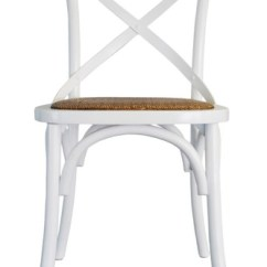 French Bentwood Cafe Chairs Chair 1 2 Slipcover Provincial Crossback - White $109