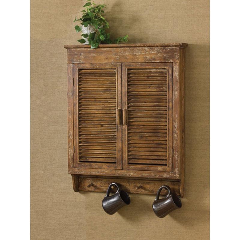 Distress Wood Shutter Cabinet by Park Designs